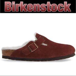 Birkenstock Boston Fur Port NWT US9 UK40